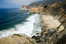 Big Sur Coastline In California Stock Images