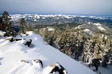 Views Of Mountains Near Lake Tahoe Royalty Free Stock Photography