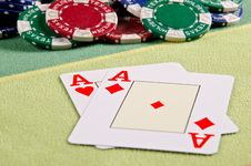 Free Poker Cards Royalty Free Stock Image - 29164756
