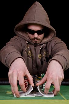 Free Poker Player Give The Cards A Shuffle Stock Images - 29165244