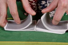 Free Poker Player Give The Cards A Shuffle Stock Images - 29165274