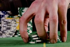Free Poker Player Give The Chips A Shuffle Stock Image - 29165501