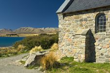 Free Church At Lake Tekapo, New Zealand Stock Image - 29167351