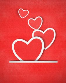 Free Heart Paper Background Royalty Free Stock Photo - 29167835