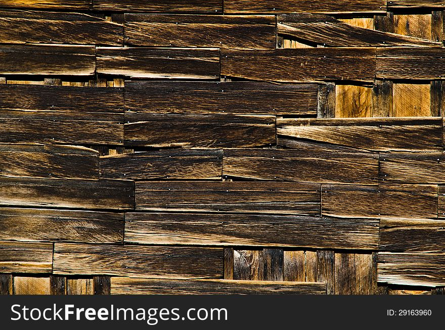 Aged wooden wall