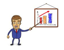 Free Businessman Pointing At Graph Royalty Free Stock Image - 29176186
