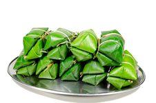 Khao Tom Mad, Thai Dessert Stock Photos