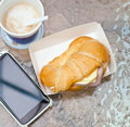 Free Ham Cheese Croissant. Royalty Free Stock Images - 29181499