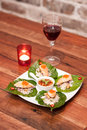 Free Thai Appetizer With Wine. Royalty Free Stock Photography - 29184967