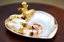 Free Wedding Ring For Bride And Groom Stock Photography - 29181242