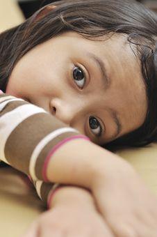 Free Sad Little Girl Stock Images - 29182724