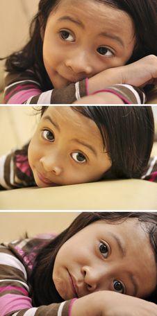 Free Sad Little Girl Royalty Free Stock Image - 29182736