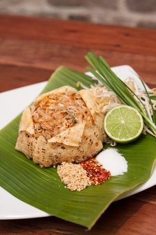 Thai Appetizer, Pad Thai With Egg Net. Royalty Free Stock Images
