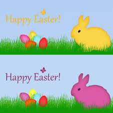 Free Happy Easter Bunny Royalty Free Stock Photos - 29186148