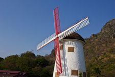 Free Swiss Sheep Farm Windmill1 Royalty Free Stock Image - 29186716