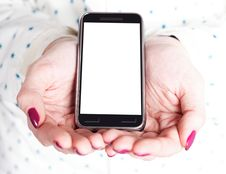 Free Phone With A Blank Screen Royalty Free Stock Images - 29187589