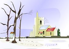 Free Church In Winter Royalty Free Stock Photos - 29187738