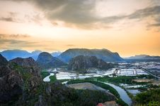 Free Landscape Viewpoint At Khao Daeng ,Sam Roi Yod National Park Stock Images - 29189804