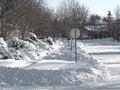Free Snowy Urban City Street Stock Image - 29194001