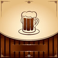 Free Beer Tankard. Vector Illustration With Place For Text Royalty Free Stock Images - 29198399