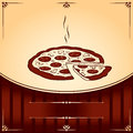 Free Hot Pizza. Vector Illustration With Place For Text Stock Image - 29198401