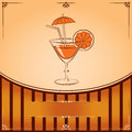 Free Vector Cocktail Glass With Orange Royalty Free Stock Photo - 29198405