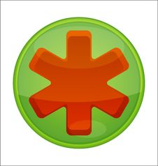 Free Medic Symbol Emergency Red Color Isolated Stock Photography - 29191672