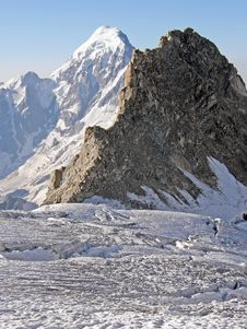 View Of The Mountains In The Caucasus Stock Images