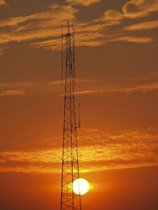 Free Antenna And Sun Stock Photography - 29199812