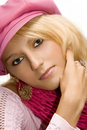 Free Blond Girl In A Cap Royalty Free Stock Photos - 2923738