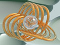 Free Gold Spirals And Glass Sphere Stock Photos - 2927113