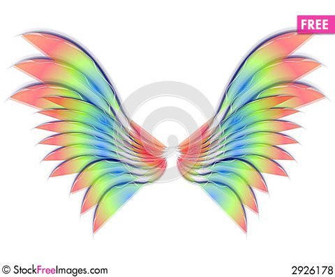 Free Isolated Angel Or Bird Wings Royalty Free Stock Photos - 2926178