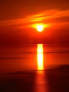 Free Sunrise Over The Lake Stock Photos - 2920313