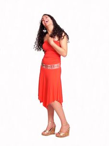 Free Young Girl In Red Laughing Royalty Free Stock Photo - 2920405