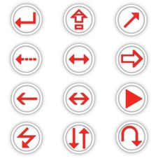 Free Set Of Round Icons Stock Photography - 2920672