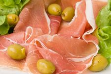 Free Prosciutto With Fresh Salad 3 Royalty Free Stock Photography - 2920937