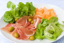 Free Prosciutto With Fresh Salad 5 Royalty Free Stock Image - 2920956