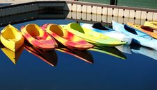 Free Kayak Reflections Royalty Free Stock Photo - 2922065