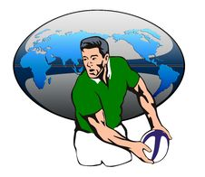 Free Rugby Player Passing Ball Royalty Free Stock Images - 2922469