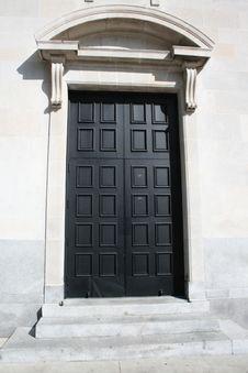 Black Door Stock Photography