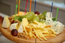 Free Plate Of Cheese Royalty Free Stock Photo - 2922735