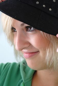 Free Woman With Hat Royalty Free Stock Image - 2923396