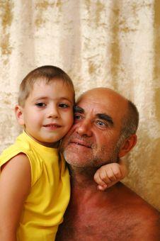 Free Senior Man With A Grandson Stock Image - 2923461