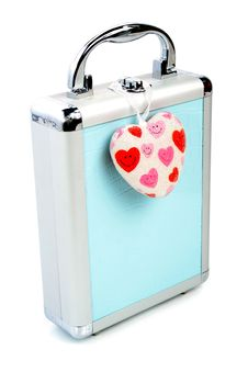 Free Briefcase And Heart Isolated Royalty Free Stock Images - 2923789