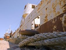 Rusty Old Ship Stock Photography