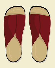 Free Shoes: Slippers (vector) Stock Images - 2924994