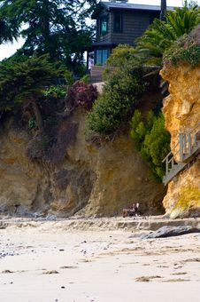 House On The Cliff Royalty Free Stock Image