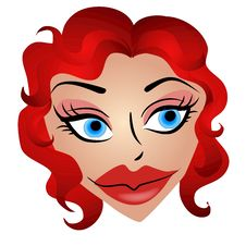 Free Cartoonish Woman With Big Lips Royalty Free Stock Photos - 2926148
