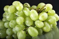Free Grape On The Black Royalty Free Stock Image - 2927946