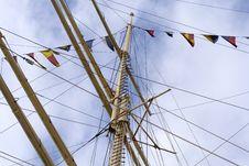 Free Mainmast Of A Sailing Ship Royalty Free Stock Photo - 2928085